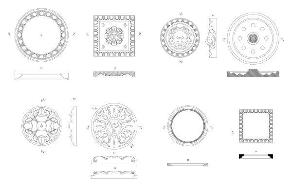017-Decorative-Rosettes-Cad-Blocks