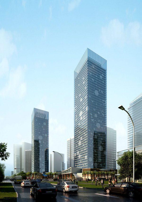 High Rise Building Exterior Scene 022