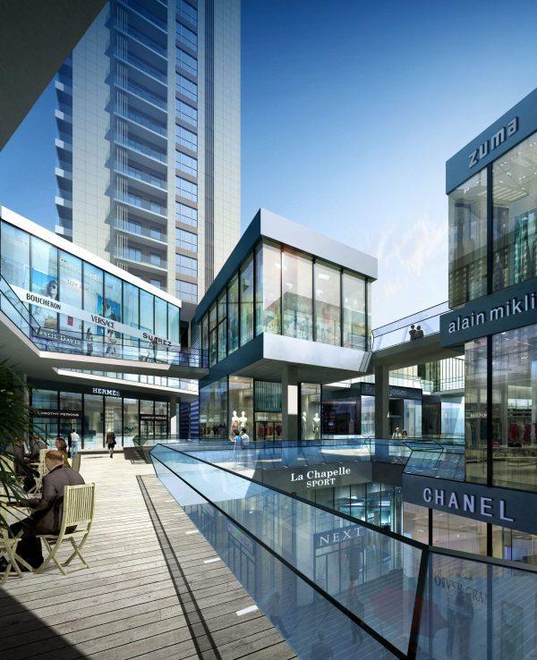 Shopping Mall Exterior Scene 022