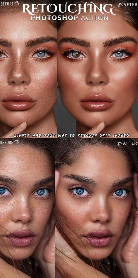 023-Skin Retouch Photoshop Action 25828641
