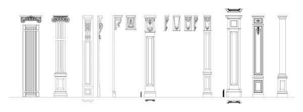 029-Pilasters_Set-Cad-Blocks