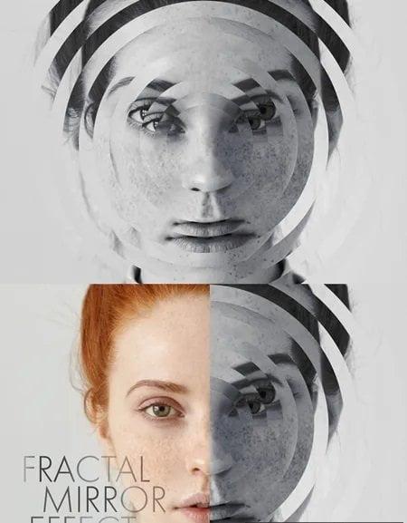 030-Photo Fractal Mirror Effect Mockup 331497867
