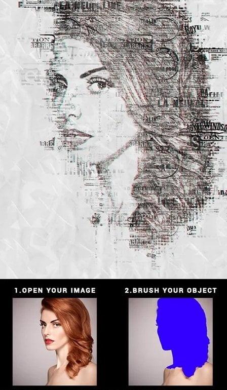 035 Newspaper Print Photoshop Action 22532292
