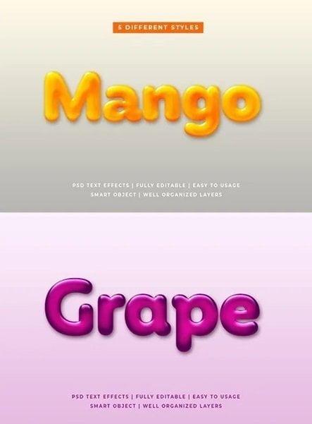 045 Liquid Fruit 3d Text Effects 25758437