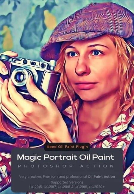 047 Magic Portrait Oil Paint Action 25708894