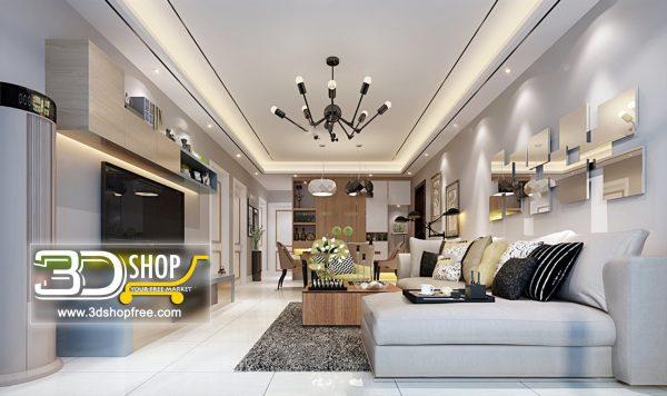 Living Room 3d Max Interior Scene 061