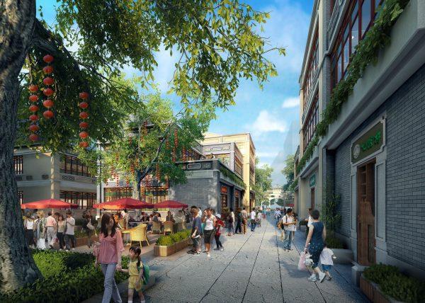 062-Exterior Scenes-Public Buildings-Shopping Piaza