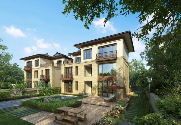 067-Exterior Scenes-Houses-Twin Villa