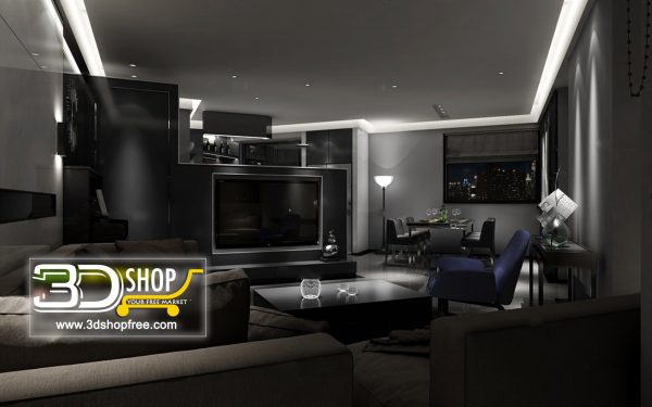 Living Room 3d Max Interior Scene 116