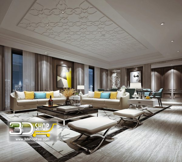 Living Room 3d Max Interior Scene 130