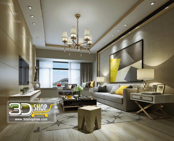 Living Room 3d Max Interior Scene 131
