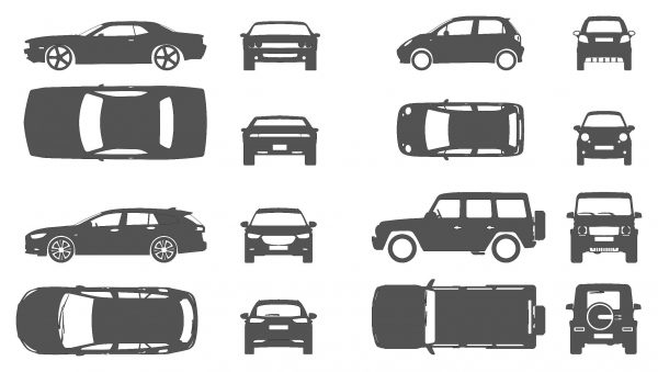 Car Icons Cad Blocks 016