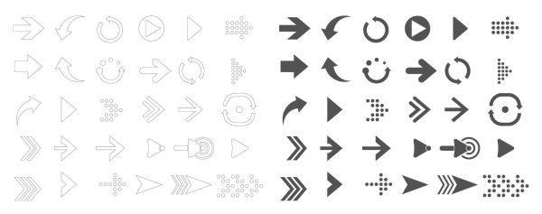 Arrow Sketch Free Icon Cad Blocks 019