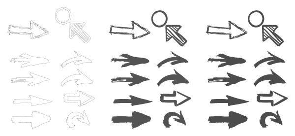 Freehand Sketch Arrow Icon Set Cad Blocks 020