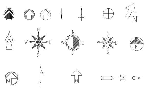 North Symbol Cad Blocks 029