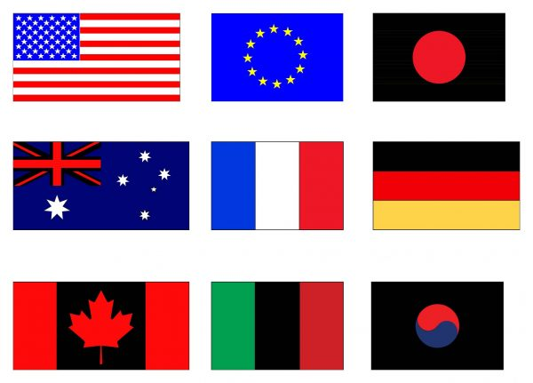 The Most Famous Flags Cad Blocks 030