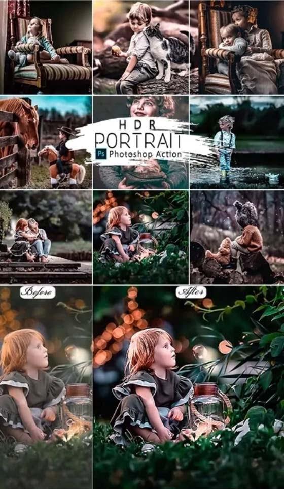 059 HDR Portrait Photoshop Actions 25818352