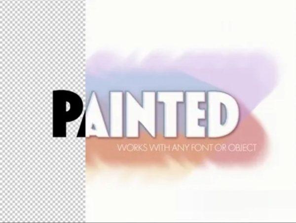 065 Paint Brushtroke Text Effect 322370767