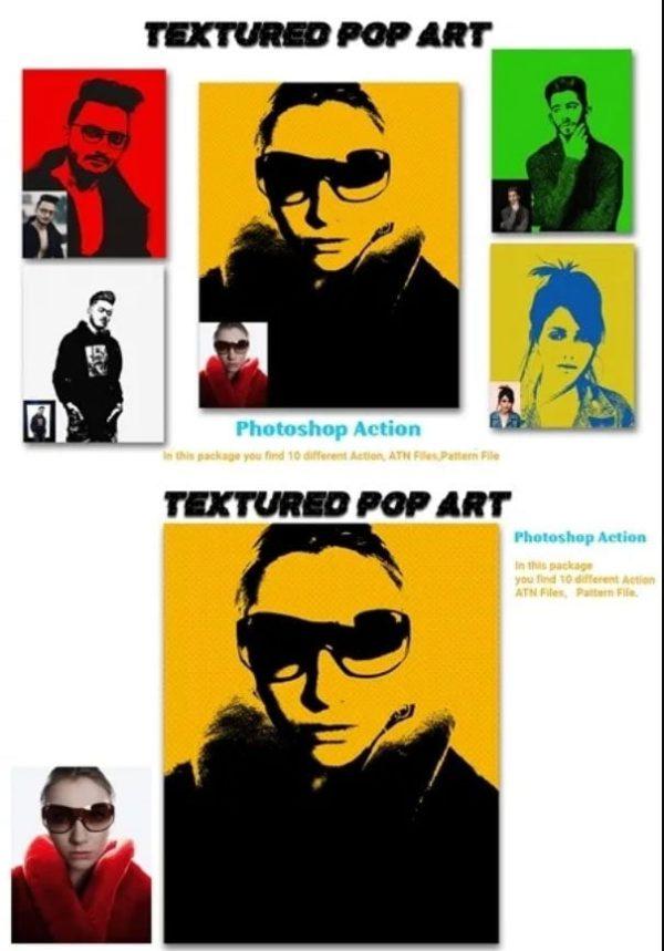 066 Textured Pop Art Photoshop Action 4578289