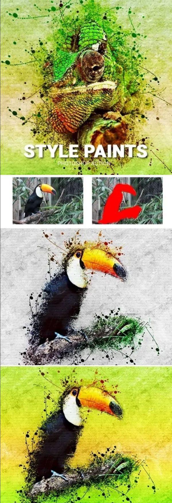067 Style Paints Photoshop Action 25674415
