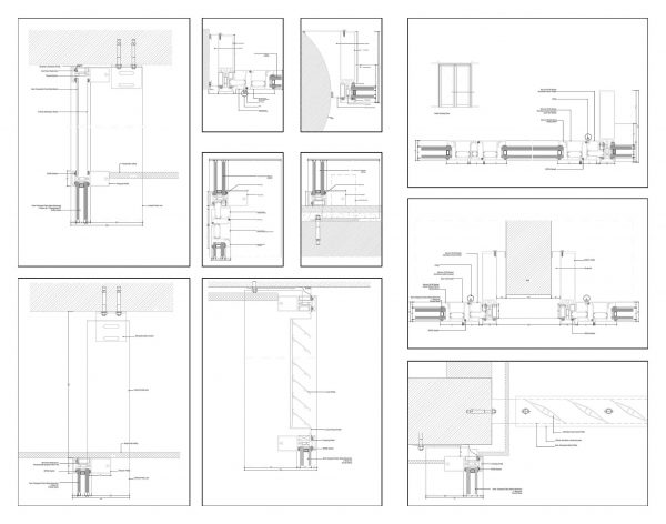 Glass Wall Systems Details Cad Blocks 095