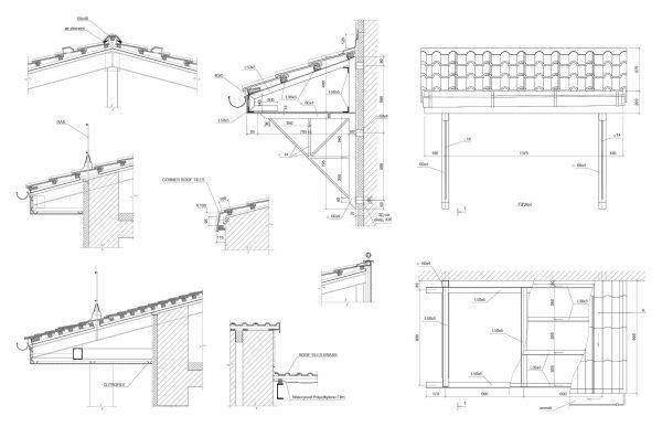 Details Of Roof Roof Tiles Cad Blocks 096