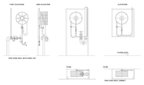 Fire Hydrants Cad Blocks  098