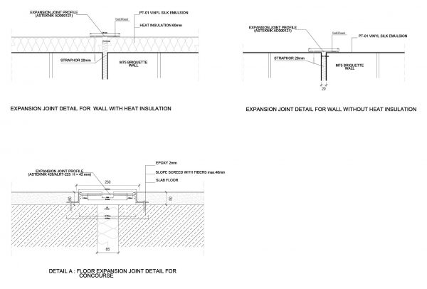 Expansion Joint Detail 3 Cad Blocks 103