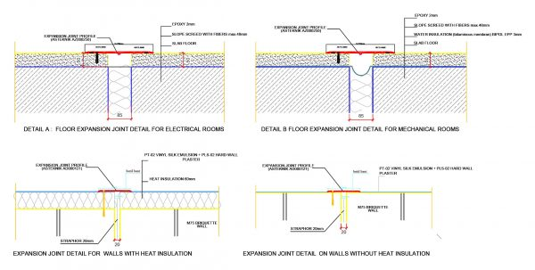 Expansion Joint Detail Cad Blocks 104
