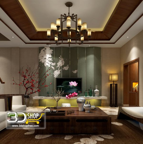 Living Room 3d Max Interior Scene 234