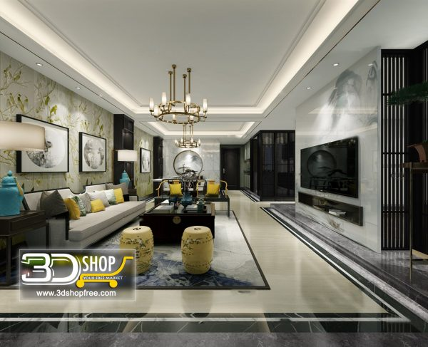 Living Room 3d Max Interior Scene 239