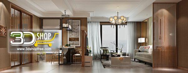 Living Room 3d Max Interior Scene 248