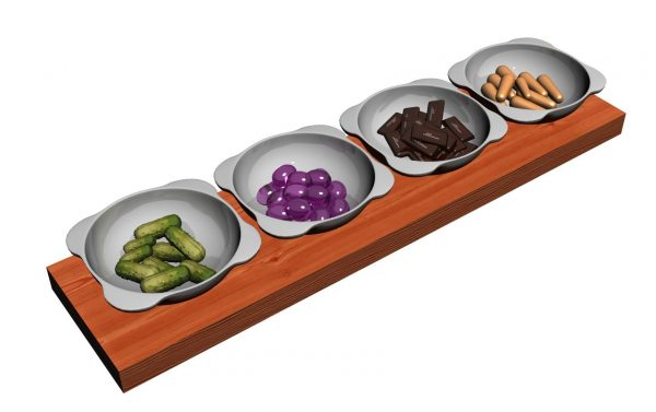 Snacks Plate 3d Models 126