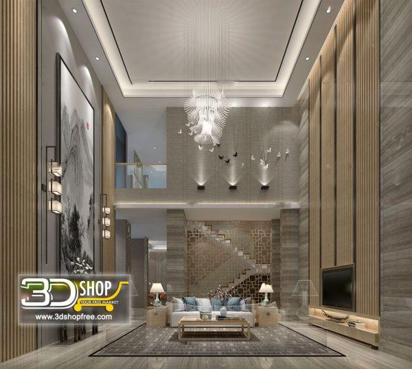 Living Room 3d Max Interior Scene 258