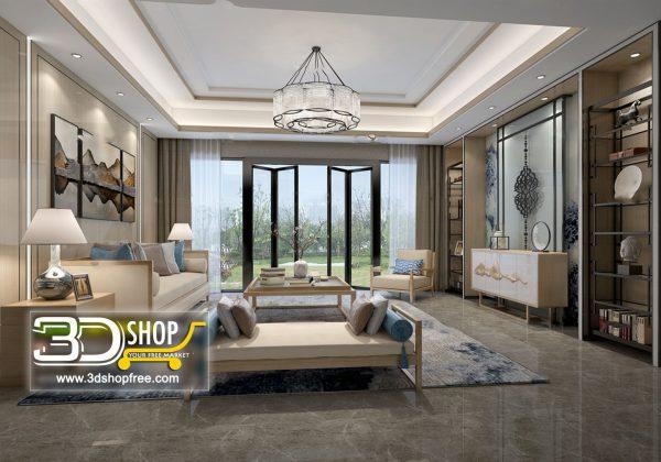 Living Room 3d Max Interior Scene 260