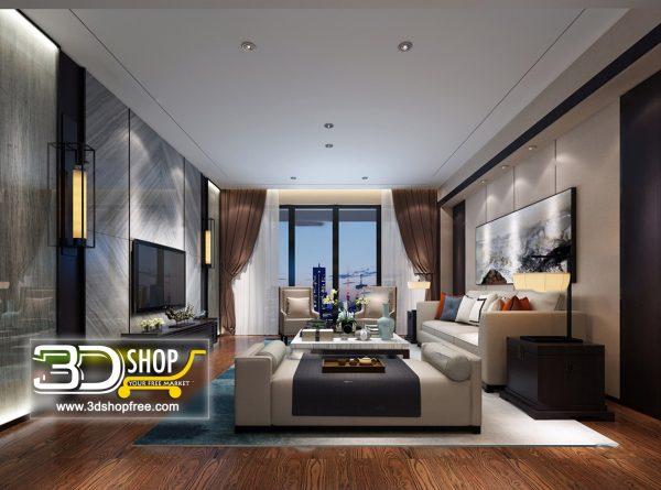 Living Room 3d Max Interior Scene 261