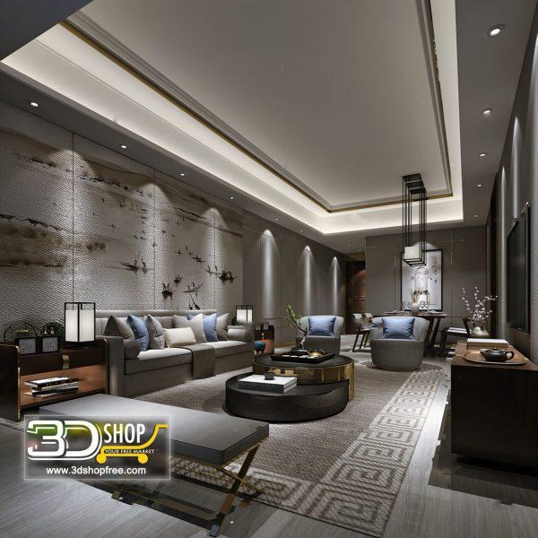 Living Room 3d Max Interior Scene 267