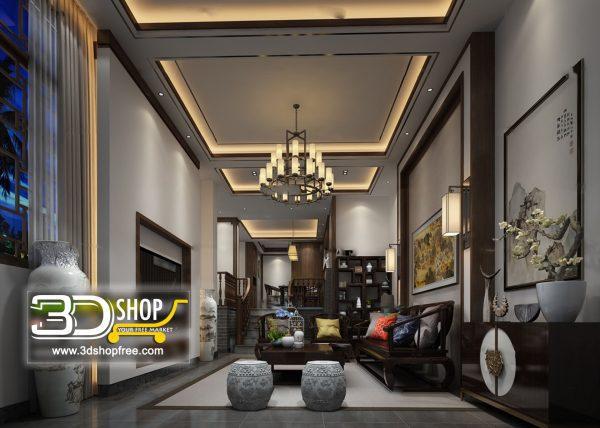 Living Room 3d Max Interior Scene 268