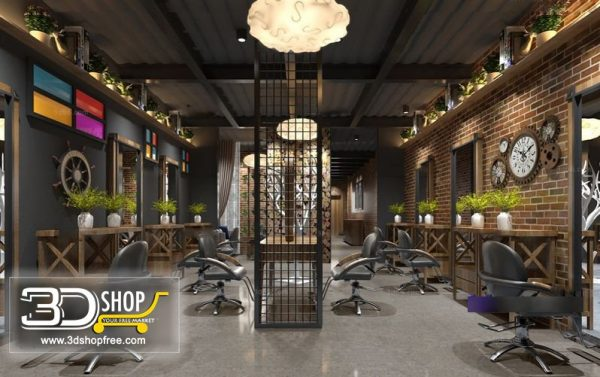 Beauty Salon Interior Scene 005