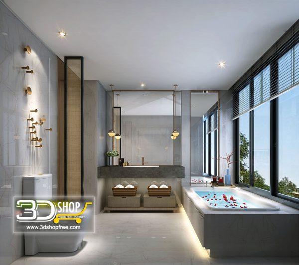 Bathroom 3D Max Interior Scene 021