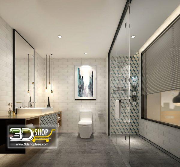Bathroom 3D Max Interior Scene 022