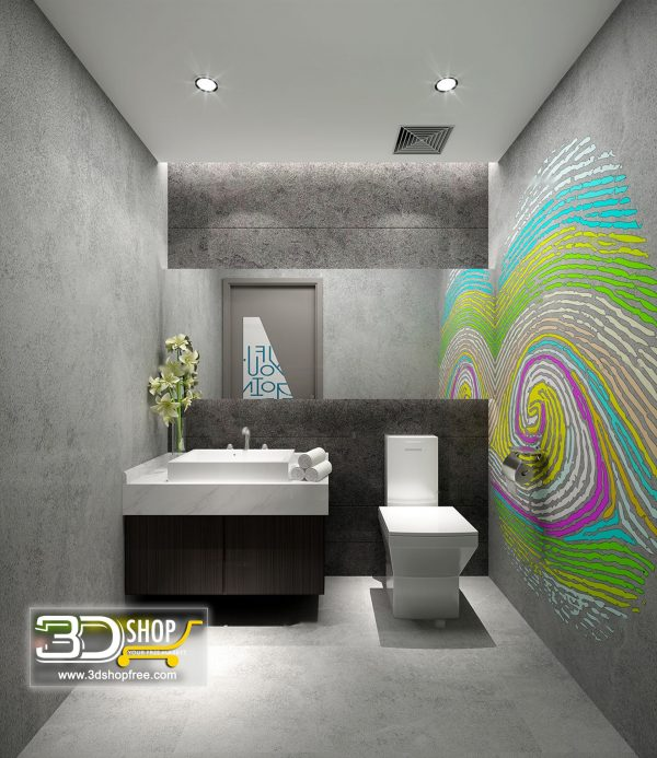 Bathroom 3D Max Interior Scene 025