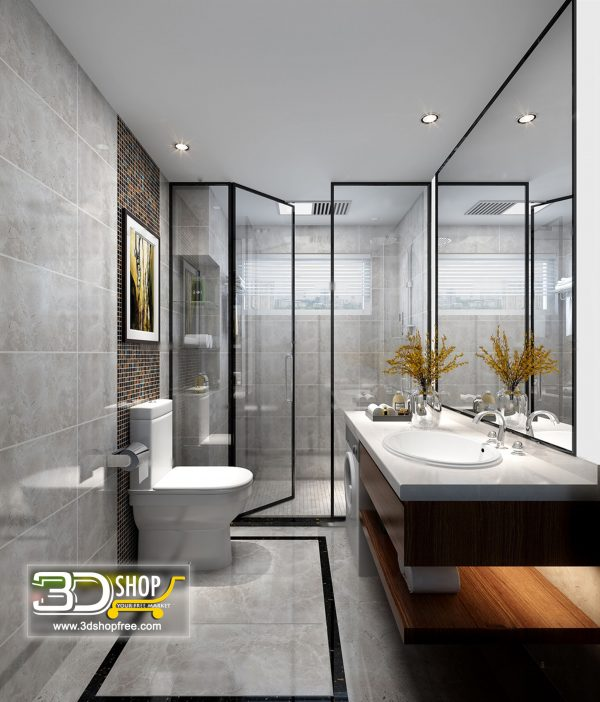 Bathroom 3D Max Interior Scene 026