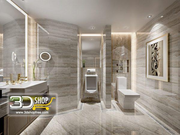 Bathroom 3D Max Interior Scene 028