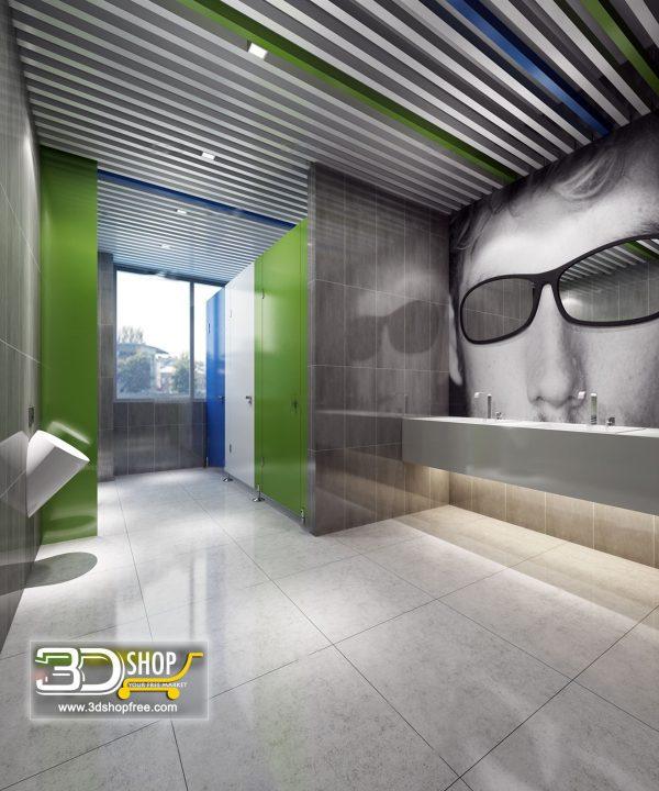 Bathroom 3D Max Interior Scene 031