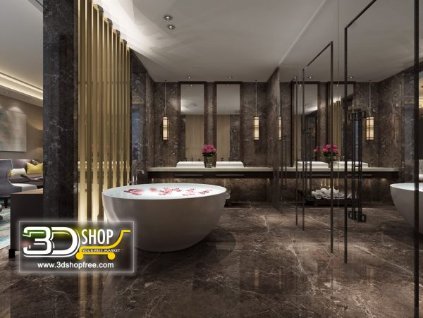 Bathroom 3D Max Interior Scene 032