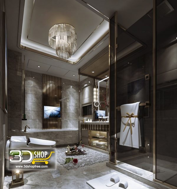Bathroom 3D Max Interior Scene 033