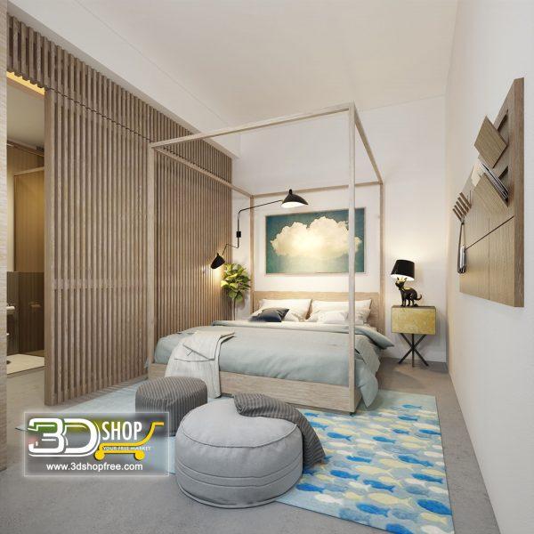 Bedroom 3d Max Interior Scene 033