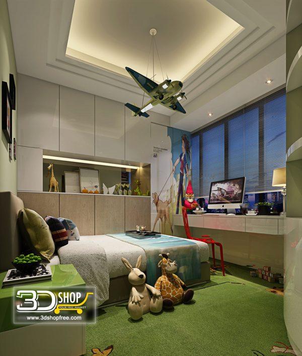 Bedroom 3d Max Interior Scene 035