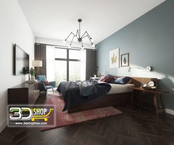 038 Bedroom 3d Max Interior Scene